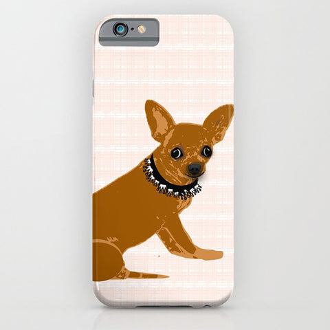 Brown Chihuahua phone case