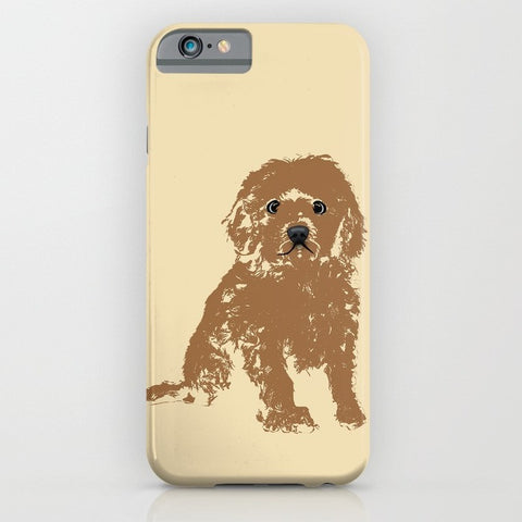 Cockapoo Dog on the Phone Case