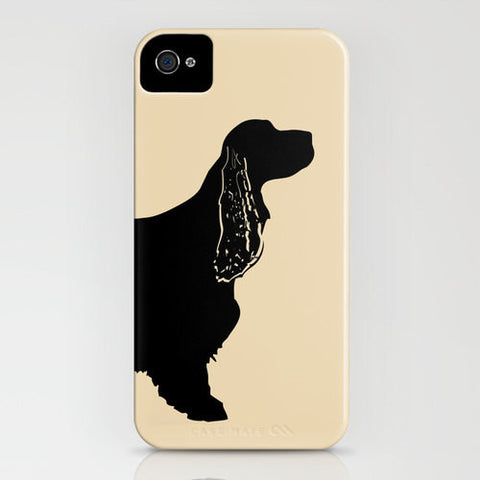 Cocker Spaniel Dogs Portrait Profile on Phone Case