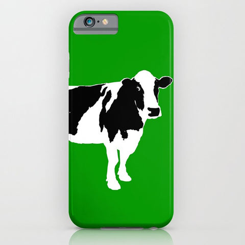 Cow on green phone case