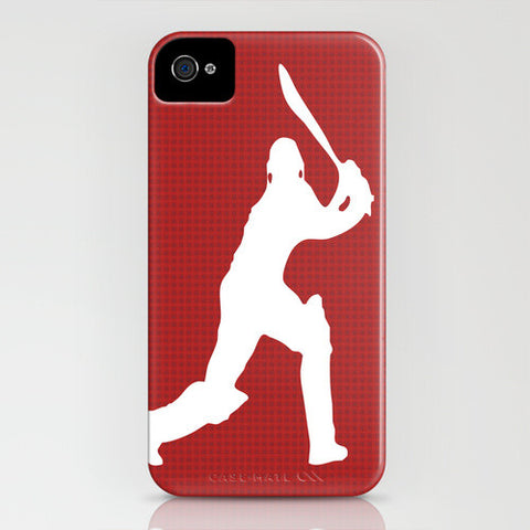 Cricketer On Red Phone Case