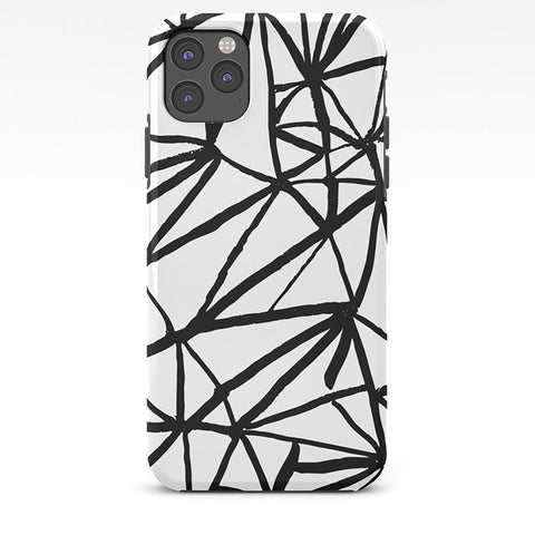 Abstract Black and White Pattern on Phone Case - iPhone 8, iPhone X, Marble, Black Marble, Rose Gold, iPhone X, Samsung S9