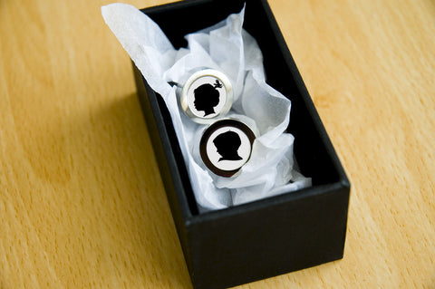 Personalised Silhouette Cufflinks