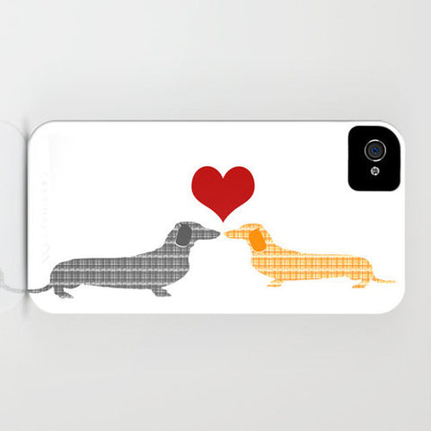 Dachshund Dogs in Love on Phone Case