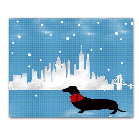 Dachshund Dog in New york  - Fine art print, portrait, sausage dog