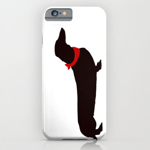 Dachshund Dog on White Phone Case