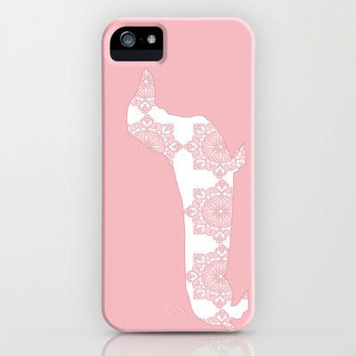 Floral Dachshund Dog on Phone case