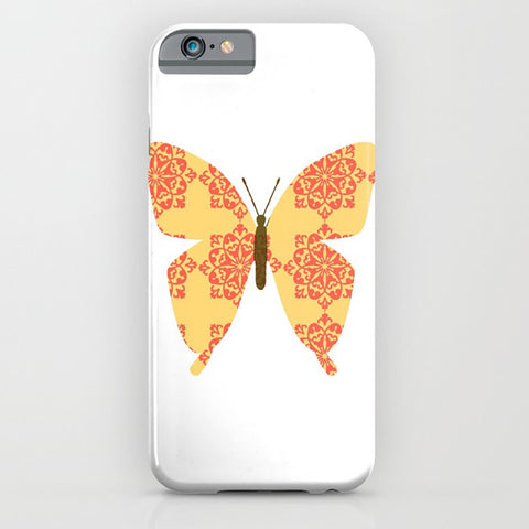 Butterfly with Floral designs on the phone case
