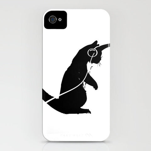 Cat dancing with music on your phone case