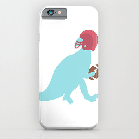 Dinosaur Iguanadon playing American football on Phone Case