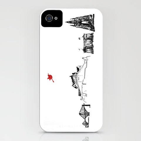 Edinburgh City Skyline On Phone Case