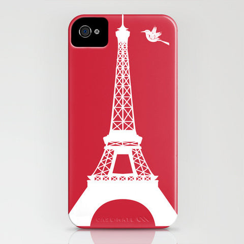 Eiffel Tower On Red Phone Case