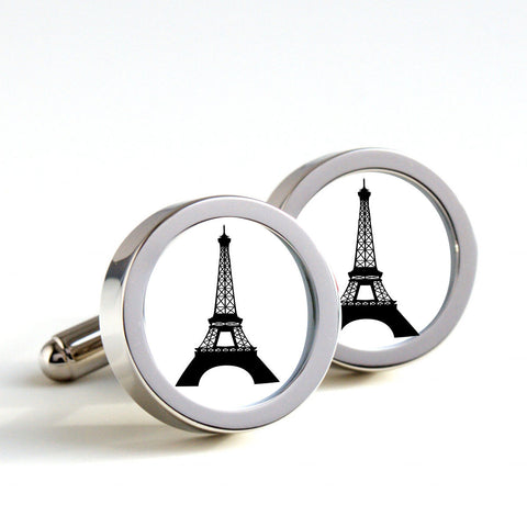 Eiffel Tower on cufflinks - Men's Cufflinks, Cufflinks for Dad, Husband, Wedding gift, Novelty cufflinks