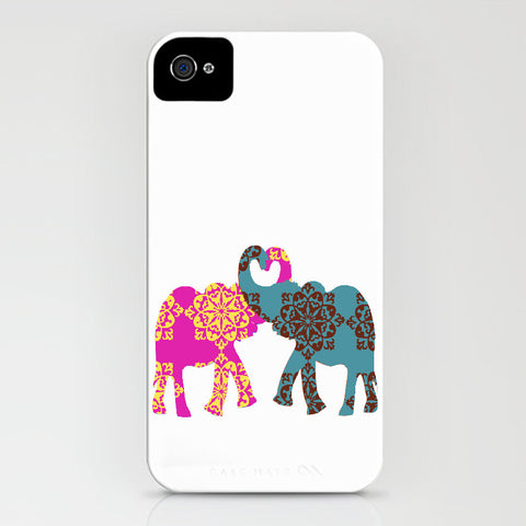 Two loving elephants on Phone Case