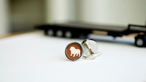 English bull dog on your cufflinks