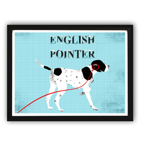 English Pointer Dog - Fine Art Print, dog art, English Pointer dog, portrait, Gift Ideas, Dog Gifts