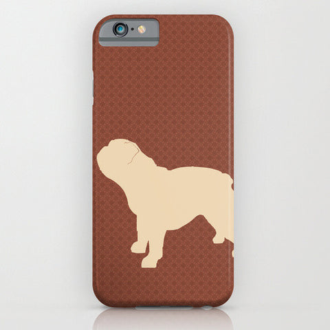 English bull dog silhouette on phone case