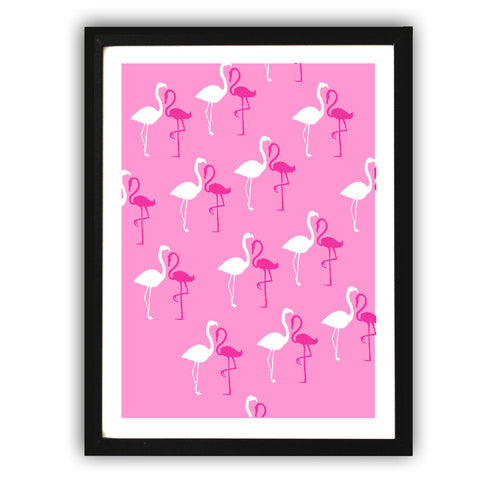 Flamingos Pattern Art Print