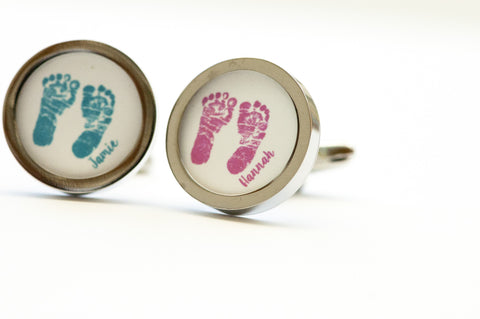 Hand Prints or Foot Print Cufflinks
