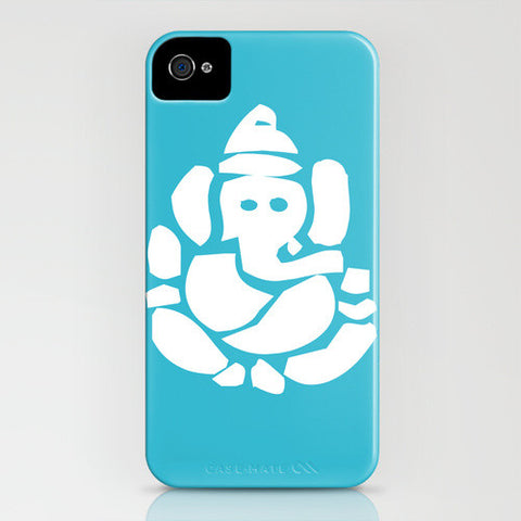 Ganesh God On Blue Phone Case