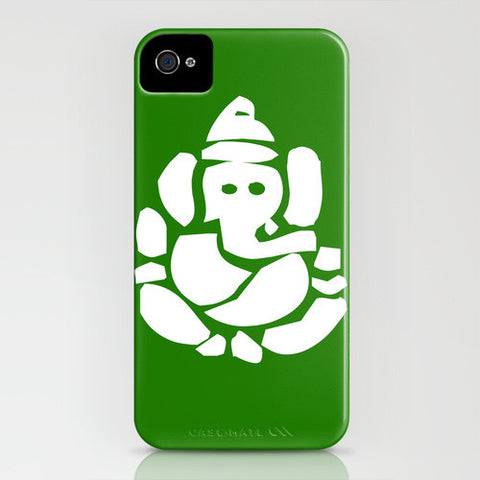 Ganesh God On Green Phone Case