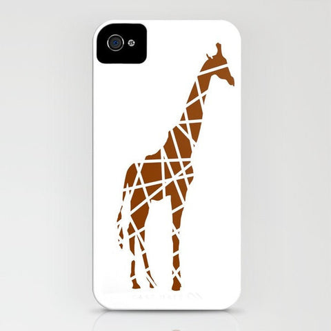 Giraffe in Brown Phone Case