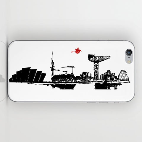 Glasgow City Skyline On Phone Case