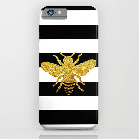 Golden Glitter Honeybee On Phone Case