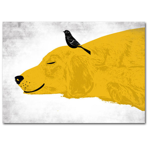 Golden Retriever Dog Sleeping Art Print