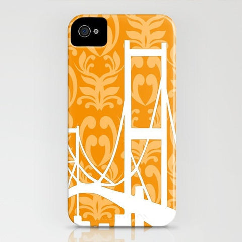 Golden Gate Bridge on Orange Pattern Phone Case