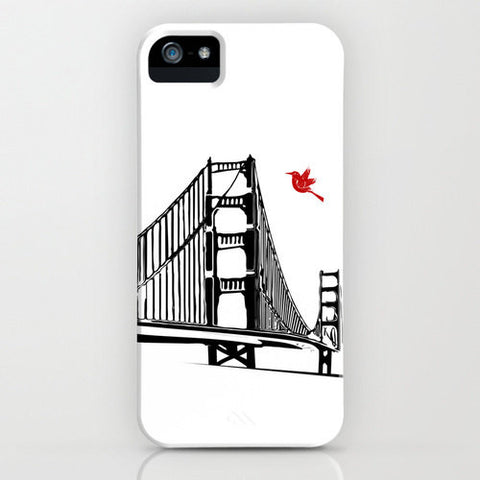 Golden Gate Bridge Silhouette on Phone Case