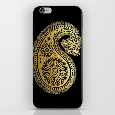 Golden Henna Design On Phone Case