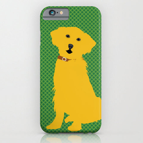 Golden Retriever Dog On Phone Case