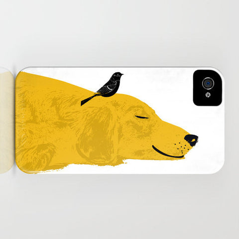 Golden Retriever Dog Sleeping On Phone Case