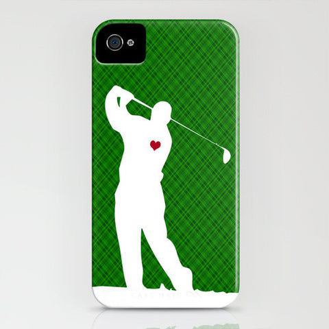 Golfer on Phone Case