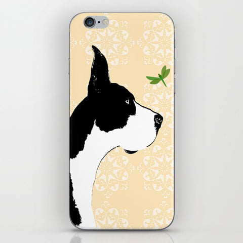 Great Dane Dog With Dragonfly On Phone Case