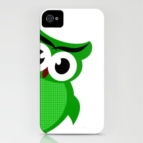 Green Owl on phone case