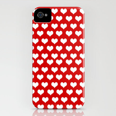 Love Hearts On Phone Case