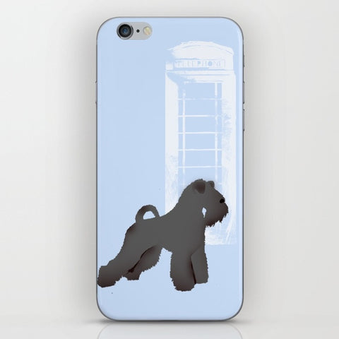 Kerry Blue Terrier Dog Silhouette On Phone Case