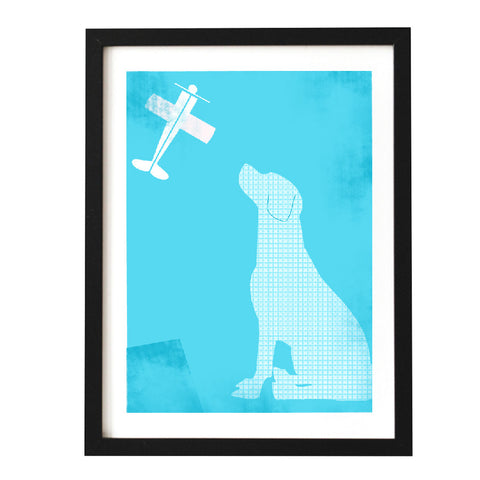 Blue Labrador Retriever Dog - Art Print