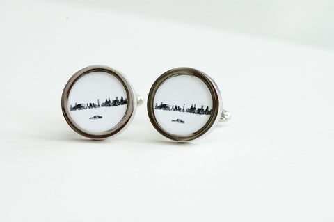 Liverpool City skyline on Cufflinks