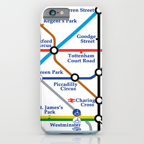 London Tube Map On Phone Case