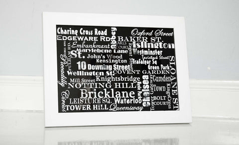 London City - Fine Art Print, Street Names