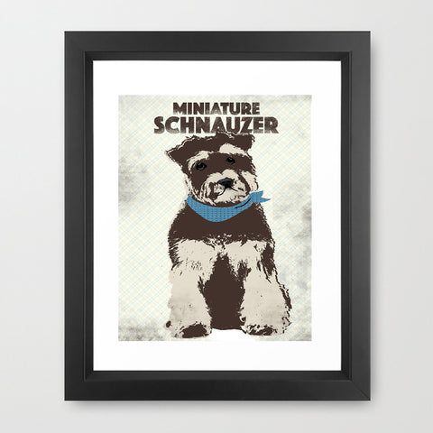 Miniature Schnauzer Dog Portrait Print