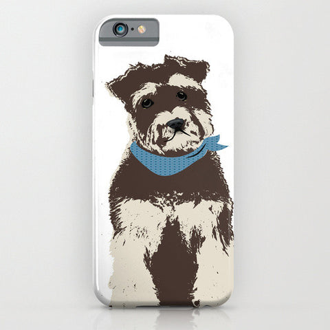 Miniature Schnauzer Dog On Phone Case