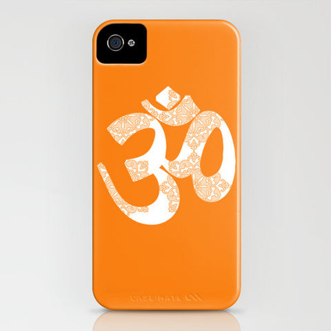 OM On Orange Phone Case