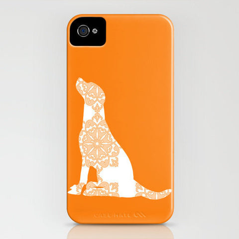 Labrador Retriever Dog on Orange Phone Case