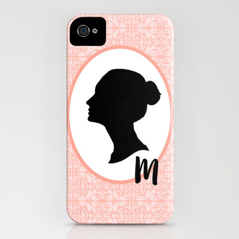 Personalised Lady's Silhouette On Phone Case