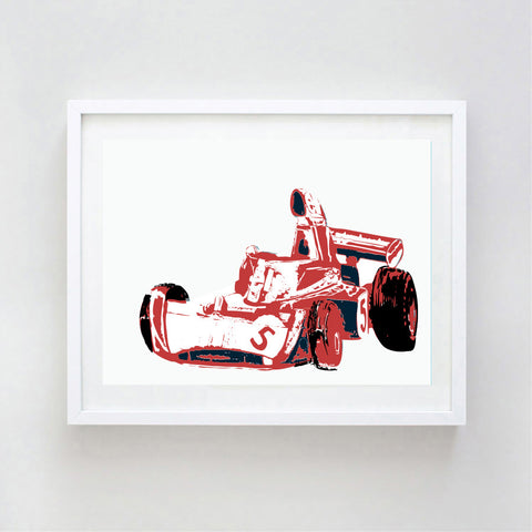 Red Tyrrell car art print