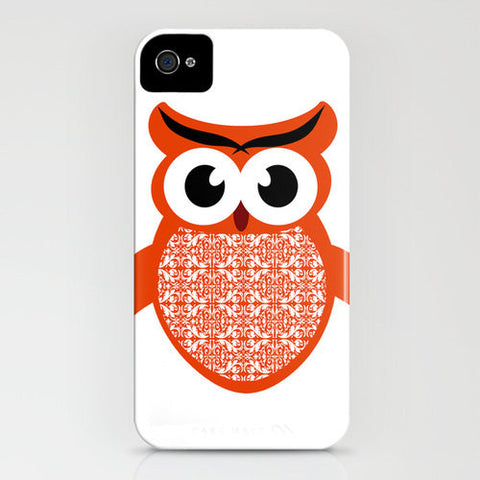 Red Owl on phone case